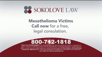 Sokolove Law TV Spot, 'Asbestos Exposure'