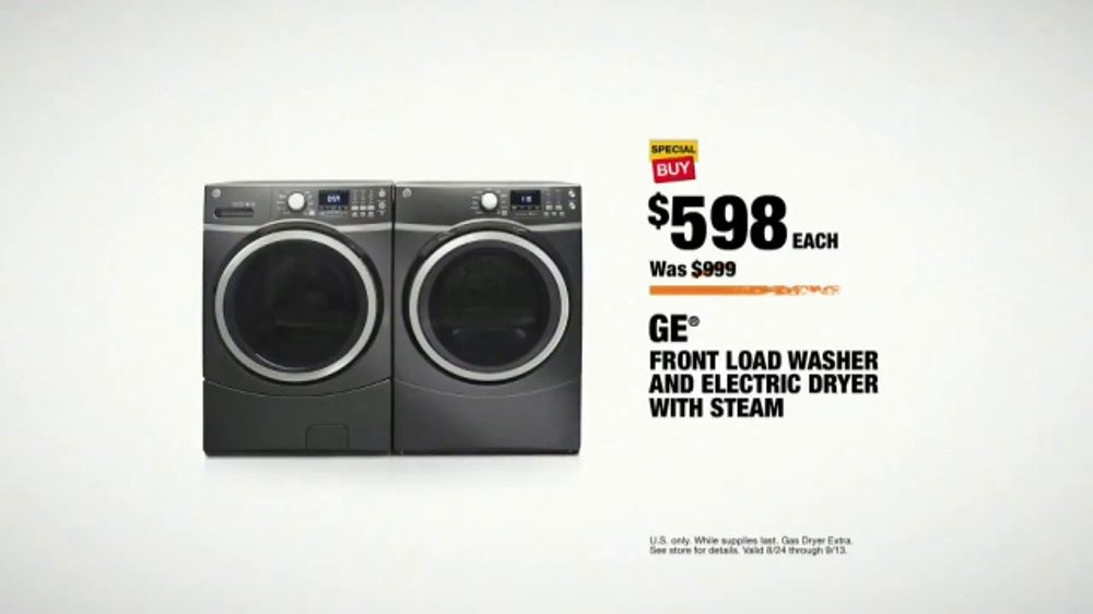 The Home Depot Labor Day Savings Tv Commercial Major Appliances Laundry Pair Video
