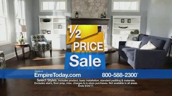 Empire Today 1/2 Price Sale TV Spot, 'Flooring Styles' - Thumbnail 2