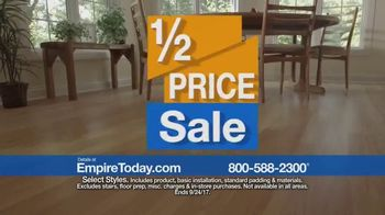Empire Today 1/2 Price Sale TV Spot, 'Flooring Styles' - Thumbnail 5