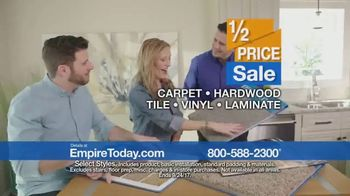 Empire Today 1/2 Price Sale TV Spot, 'Flooring Styles' - Thumbnail 6