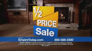 Empire Today 1/2 Price Sale TV Spot, 'Flooring Styles' - Thumbnail 8
