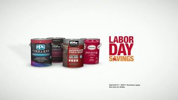 The Home Depot Labor Day Savings TV Spot, 'Paint Projects'