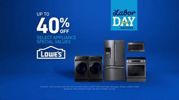 Lowe's Labor Day Savings Event TV Spot, 'The Moment: Appliances' - Thumbnail 5