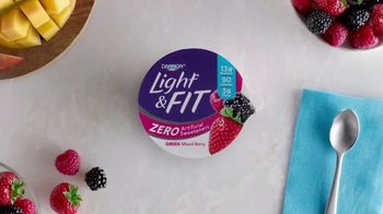 Dannon Light & Fit TV Spot, 'Zero Artificial Sweeteners'