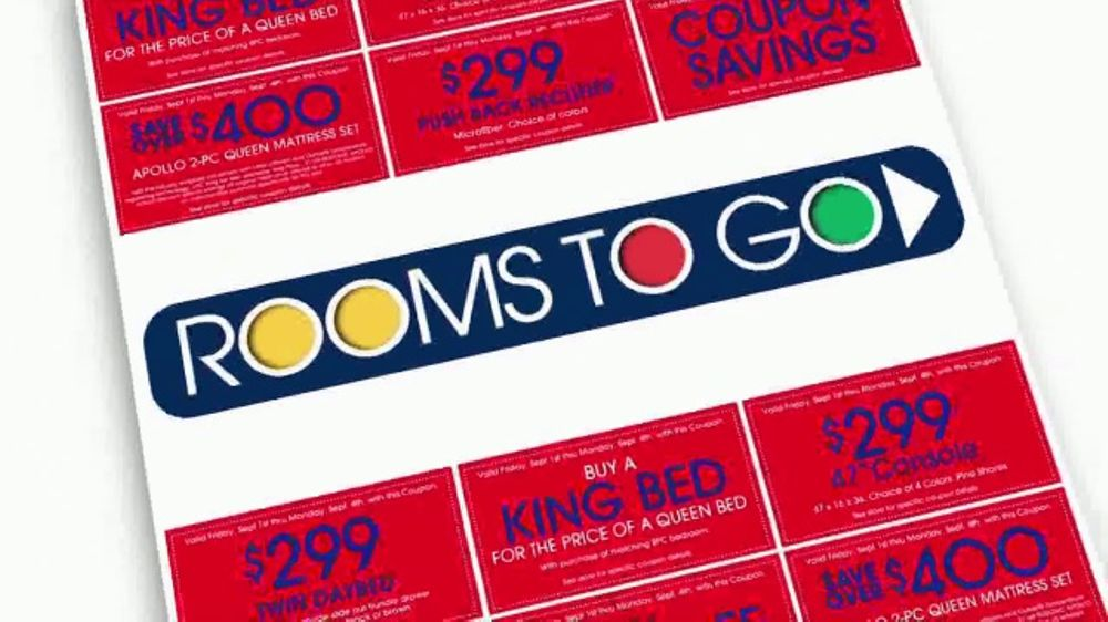 Rooms To Go Tv Commercial Labor Day Bonus Coupons Ispot Tv