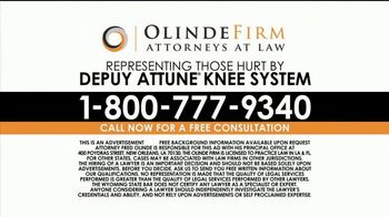 Olinde Firm TV Spot, 'Attune Knee System' - Thumbnail 9