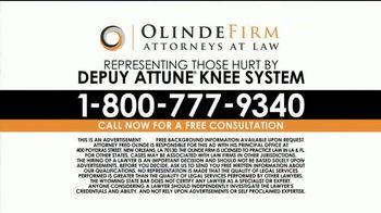 Olinde Firm TV Spot, 'Attune Knee System' - Thumbnail 8