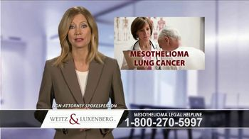 Weitz and Luxenberg TV Spot, 'Mesothelioma Legal Helpline'