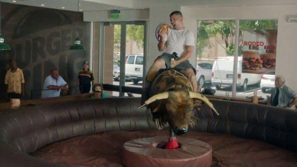Burger King Rodeo TV Commercial Mechanical Bull