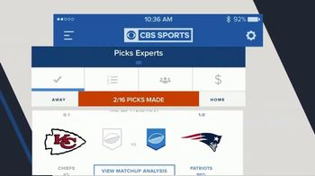 CBS Sports App TV Spot, 'Football Pick 'Em' - Thumbnail 5