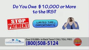 Paramount Tax Relief TV Spot, 'Handle IRS Tax Issues'