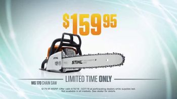 STIHL Dealer Days TV Spot, 'MS 170 Chain Saw'