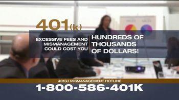 Franklin D. Azar & Associates, P.C. TV Spot, '401(k) Mismanagement'