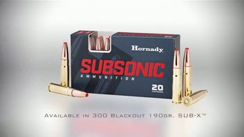 Hornady Sub-X Subsonic Ammunition TV Spot, 'Reliable Expansion' - Thumbnail 6