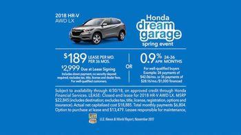 Honda Dream Garage Spring Event TV Spot, 'Dreams Do Come True: 2018 HR-V' [T2] - Thumbnail 9
