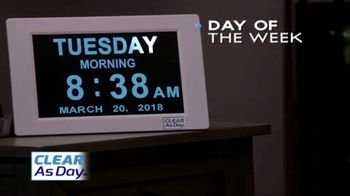 Clear as Day TV Spot, 'Boldly Displays the Date and Time' - 3 commercial airings