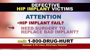 Danziger & De Llano TV Spot, 'Hip Implant and Hernia Mesh' - Thumbnail 1