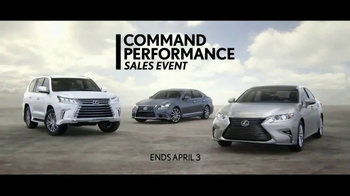 Lexus Command Performance Sales Event TV Spot, 'Exceptional Offers' [T2] - Thumbnail 3