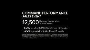 Lexus Command Performance Sales Event TV Spot, 'Exceptional Offers' [T2] - Thumbnail 4
