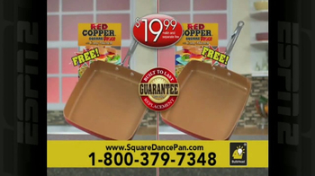 Red Copper Square Dance Pan TV Spot, 'No Scratching or Sticking' - Thumbnail 9