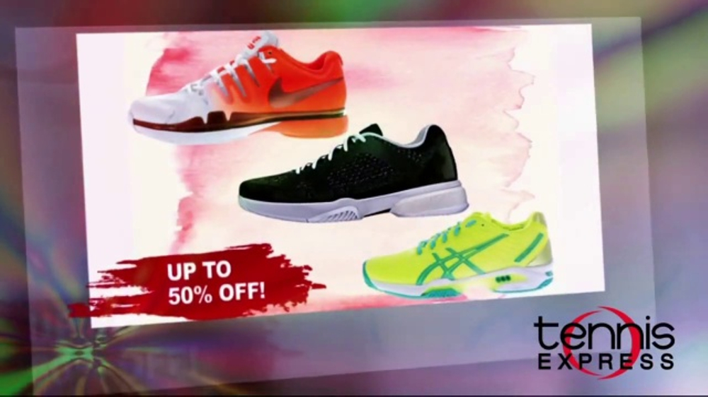 Tennis Express Spring Sale TV Commercial, 'Shoes, Apparel and Free Stringing'