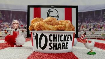 KFC $10 Chicken Share & $5 Fill Ups TV Spot, 'Sports-Watching Time' - Thumbnail 3