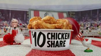 KFC $10 Chicken Share & $5 Fill Ups TV Spot, 'Sports-Watching Time' - Thumbnail 4