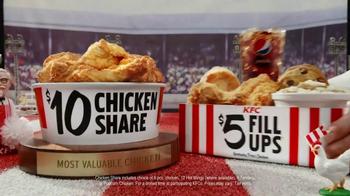 KFC $10 Chicken Share & $5 Fill Ups TV Spot, 'Sports-Watching Time' - Thumbnail 7