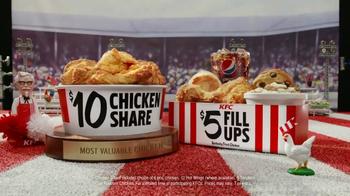 KFC $10 Chicken Share & $5 Fill Ups TV Spot, 'Sports-Watching Time' - Thumbnail 8