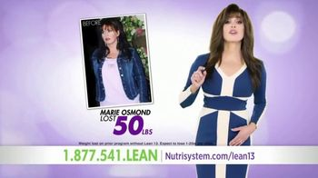 Nutrisystem Lean13 TV Spot, 'Bust Belly Bloat' Featuring Marie Osmond - 306 commercial airings