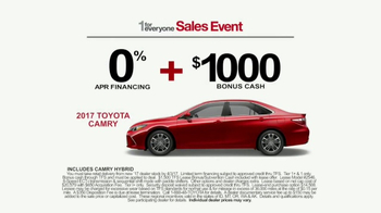 Toyota 1 For Everyone Sales Event TV Spot, '2017 Camry or Camry SE' [T2] - Thumbnail 8
