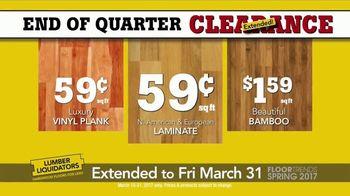 Lumber Liquidators End of Quarter Clearance TV Spot, 'Floor Trends: Deals'