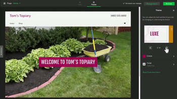 GoDaddy GoCentral TV Spot, 'Lawn Art' Song by Rick Astley - Thumbnail 5