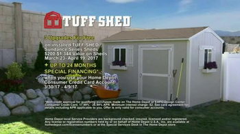 Tuff Shed TV Spot, 'The Home Depot: Upgrades' - Thumbnail 9