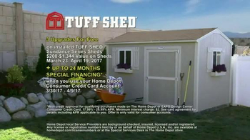 Tuff Shed TV Spot, 'The Home Depot: Upgrades' - Thumbnail 8