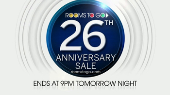 Rooms to Go 26th Anniversary Sale TV Spot, 'Last Two Days' - Thumbnail 10