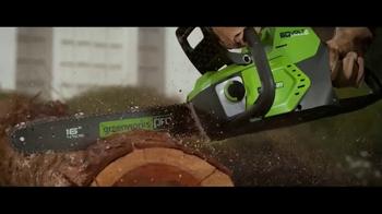 GreenWorks Pro 60V TV Spot, 'No Gas, No Cords'