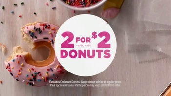 Dunkin' Donuts 2 for $2 TV Spot, 'Make Today Smile' - Thumbnail 3