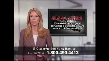 Phelan Petty Trial Attorneys TV Spot, 'E-Cigarette Explosion Hotline' - Thumbnail 1