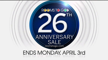 Rooms to Go 26th Anniversary Sale TV Spot, 'Three Days Remain' - Thumbnail 9