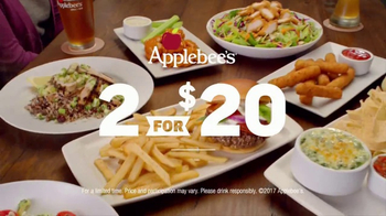 Applebee's 2 for $20 TV Spot, 'Tempting New Options'