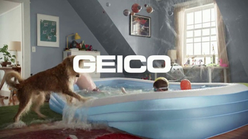 GEICO TV Spot, 'The Gecko Finds a Pool Party' - Thumbnail 9