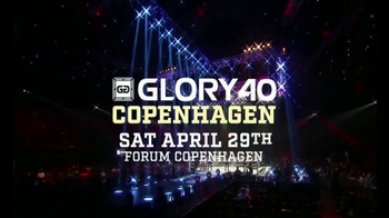 Glory Kickboxing TV Spot, 'Glory 40: Copenhagen' - 2 commercial airings