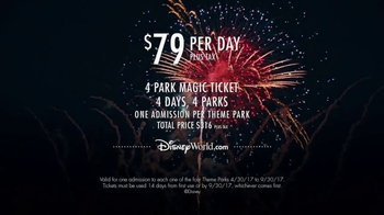 Walt Disney World 4-Park Magic Ticket TV Spot, 'Four Theme Parks' - Thumbnail 7