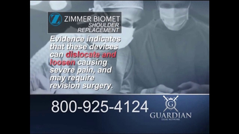 Guardian Legal Network TV Spot, 'Total or Reverse Shoulder Replacement' - Thumbnail 4