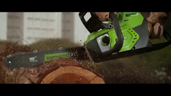 GreenWorks Pro 60 Volt TV Spot, 'Lithium Powered' - Thumbnail 9