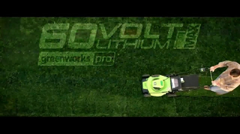 GreenWorks Pro 60 Volt TV Spot, 'Lithium Powered'