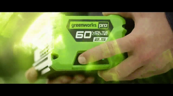 GreenWorks Pro 60 Volt TV Spot, 'Lithium Powered' - Thumbnail 5