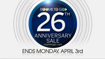 Rooms to Go 26th Anniversary Sale TV Spot, 'Last Five Days' - Thumbnail 9